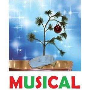 NEW CHARLIE BROWN MUSICAL CHRISTMAS TREE 24 PEANUTS BY SCHULTZ