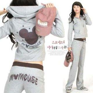 New Korean Womens Tracksuit Sweat Suit Casual Hoody Jacket Long Sleeve