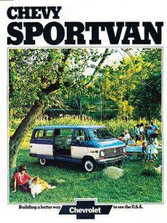1974 Chevrolet Chevy Sportvan Van Original Sales Brochure Catalog