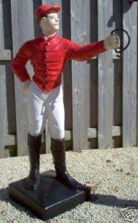 Lawn Jockey Cavalier Boy Concrete Yard Garden Statue
