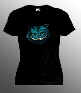 CHESHIRE CAT   ladies t shirt. Many sizes.