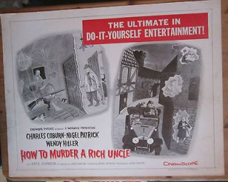 MURDER A RICH UNCLE  USA Orig 22x28 1958 UNFOLDED Charles Addams art