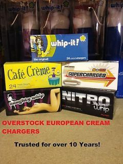 boxs 50  200 Whip Cream Chargers Nitrous Oxide N2O Whipped