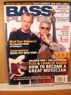 Bass Player Magazine June 2006 Flea & Charlie Haden
