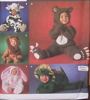 SIMPLICITY CHILDS Costume Pattern #5880 Size 1,2,3,4 DINO,BEAR,COW