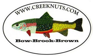 FISHING BUMPER STICKERS Rainbow Brook Brown Trout Bow Brook Brown