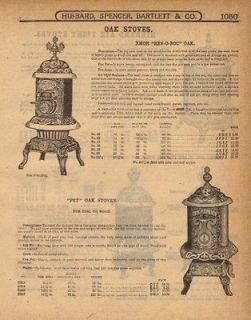 1917 XMOR REV O NOC OAK HEATING WOOD STOVES AD