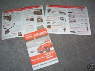 1947 53 CHEVROLET TRUCK 8 Page ACCESSORIES BROCHURE