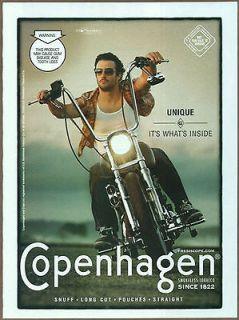 Copenhagen Smokeless Tobacco 2007 print ad / magazine ad, motorcycle