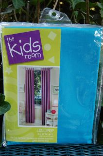 The Kids Room Lollipop Glacier BlueTab Top Curtain Panel Valance 84