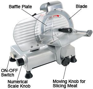 Electric Meat Slicer 210w 570RPM Deli Food Cheese Veggies