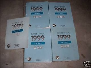 1999 Chevy GMC Cadillac C/K CK Truck Service Manual Set