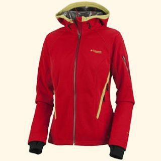 NWT Columbia Cherry Bomb Key Three Softshell Omni Heat Shield Hooded