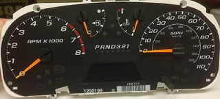 NEW 04 07 COLORADO CANYON SPEEDOMETER CLUSTER MANUAL TRANSMISSION