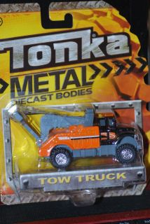 2012 Tonka Truck   Tow Truck  Orange Wrecker   Metal Diecast Body 1