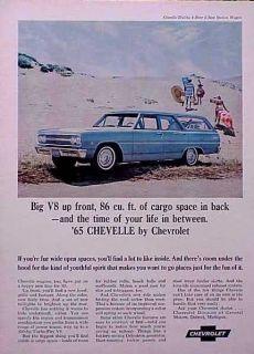 1965 Chevy Chevelle Malibu Wagon ORIGINAL Vintage Ad C MY STORE 5