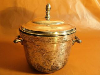 Vintage Silver On Copper Lidded Ice Bucket Pot A Thermos Brand Product