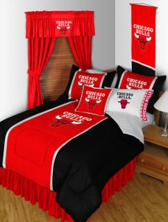 NBA CHICAGO BULLS   SIDELINES (9) PIECE COMPLETE BEDDING PACKAGE SET