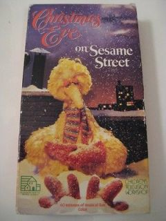 CHRISTMAS EVE ON SESAME STREET Musical Sesame Street Live Cast VHS