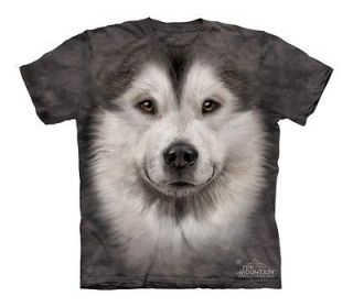 MOUNTAIN ALASKAN MALAMUTE FACE PUPPY SLED DOG SNOW PET SHIRT CHILD S