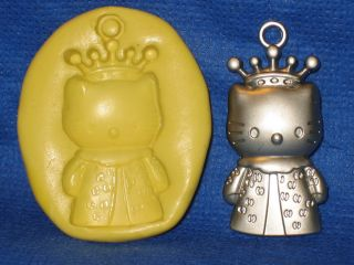 Queen Hello Kitty Push Mold Flexible Resin Clay Candy Food Safe