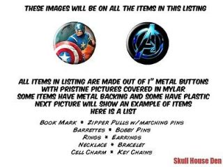 Avengers Captain America Chris Evans Complete Set of button treasures