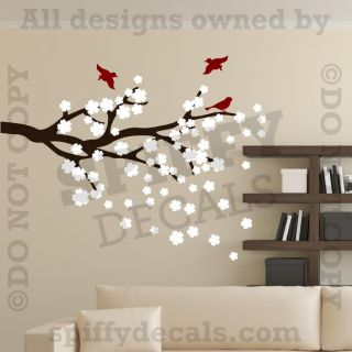 Decor Art Vinyl Mural Decal Sticker Cherry Blossom Branches Tree 421