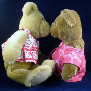 Hallmark Set Kissing Bears Teddy Bear Plush Musical Jingle All You