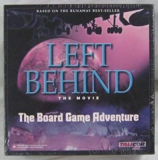 Sealed 2001 Talicor   LEFT BEHIND Game   The Board Game Adventure, New