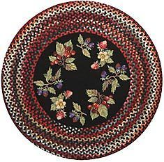 Capel Rugs Berries Clarendon Round Braided Hooked Kitchen Throw Rug