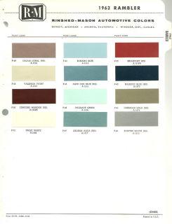 Paint colors samples