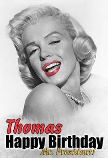 Marilyn Monroe Birthday PERSONALISED greeting ART Card vintage glamour