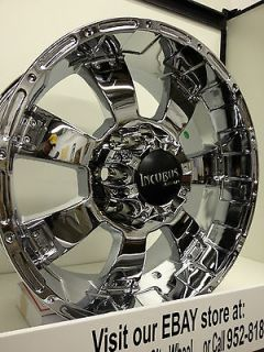 20 inch Chrome Incubus Krawler Wheels Rims Ford F250 F350 Excursion