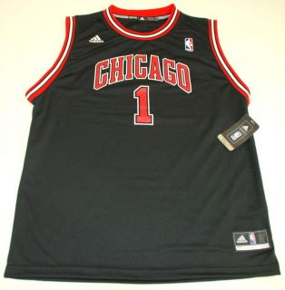 NBA Adidas Chicago Bulls Derrick Rose Youth 2012 Alternate Black Rev