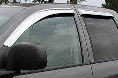 09 10 Dodge Ram Quad cab 4pc CHROME Window Ventvisors