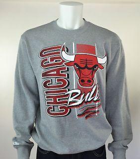 CHICAGO BULLS Mitchell & Ness NBA Zip Zag Crew Neck Sweatshirt 2XL