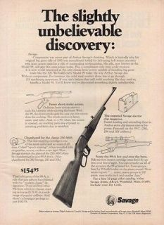 1971 Savage Model 99 Rifle Lever Action Hunting Gun Ad