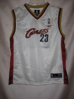 James Lebron Cleveland Cavaliers White NBA Kids Jersey Size 4