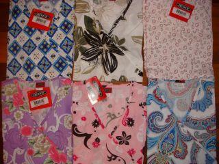 711D Nwt Medical Uniform Nursing Scrubs Stylish Print Wrap Top S M L