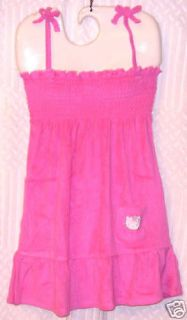 NEW HELLO KITTY TERRY BATHING SUIT COVERUP DRESS 14