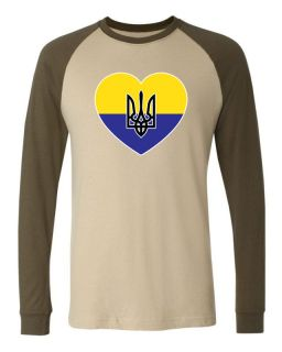 Of Arms Long Sleeve Baseball T shirt Olympic Game Ukranian Football