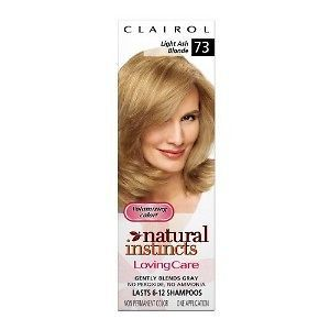 Clairol Natural Instincts Loving Care Color, 073 Light Ash Blonde