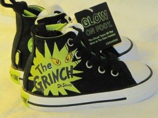 New Converse Chuck Taylor DR SEUSS GRINCH Glow In The Dark Shoes 5
