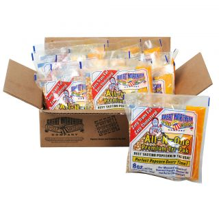 Great Northern Popcorn 1 Case (12) of 8 Ounce Popcorn Portion Packs