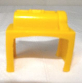 Rare Vintage Dollhouse Miniature Yellow Mangle Iron Machine Press