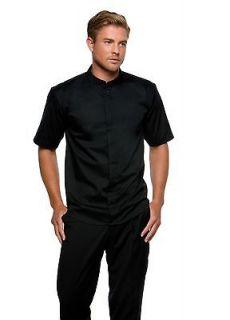Kustom Kit Bargear KK122 Bar Mandarin Collar Short Sleeve Shirt