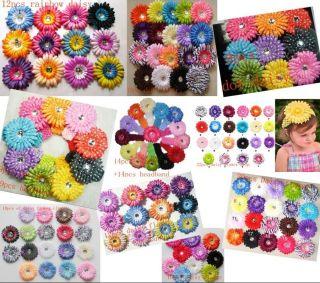Lots party Daisy Flower Clip Crochet Girls Baby Lady Hair Bow Headband