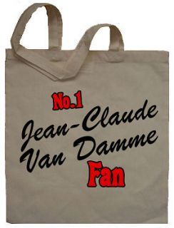 No 1 Jean Claude Van Damme Fan Tote Bag CHOOSE ANY TEXT Secret Santa