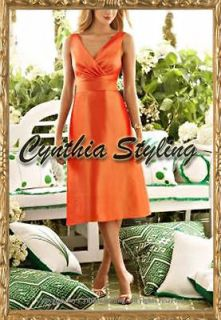 Burnt orange bridesmaid prom ball cocktail dress MtM
