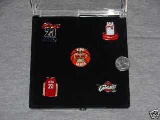 Cleveland Cavaliers Lebron James Jersey Pin Set FREE